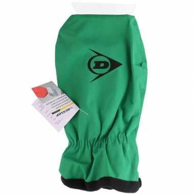 Ijskrabber met want/handschoen groen prijs