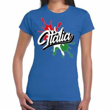 Italia/italie supporter kleding blauw voor dames prijs