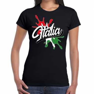 Italia/italie supporter kleding zwart voor dames prijs