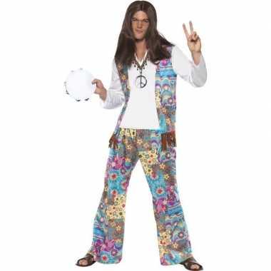 Jaren 60 hippie verkleedkleding voor heren prijs