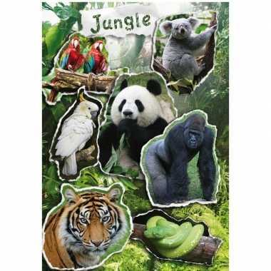 Jungle dieren stickervel met 21 stickers prijs