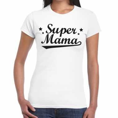 Kadoshirt super mama wit voor dames prijs