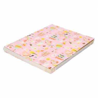 Kaft papier roze girlpower 200 x 70 cm voor meisjes prijs