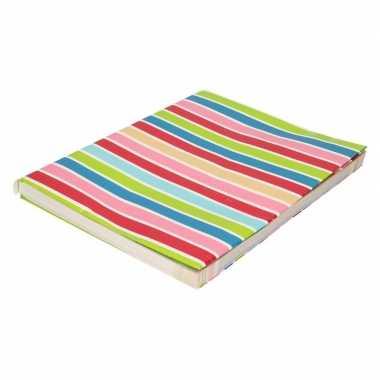 Kaftpapier gekleurde streepjes 200 cm prijs