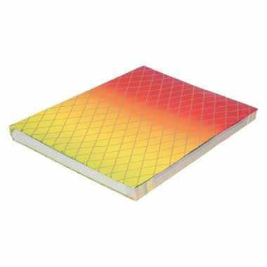 Kaftpapier regenboog kleuren en grafische print 200 cm prijs