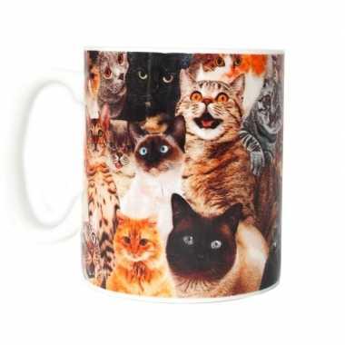 Katten/poezen melkbeker/mok 300 ml prijs