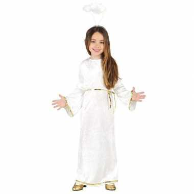 Kerst engelen kostuum met aureool/halo voor meisjes prijs