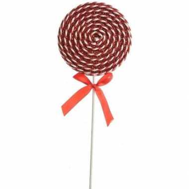 Kerst hangdecoratie rood/witte lolly snoepgoed 36 cm prijs