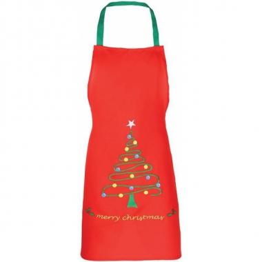 Kerst knutsel schort rood voor kids prijs
