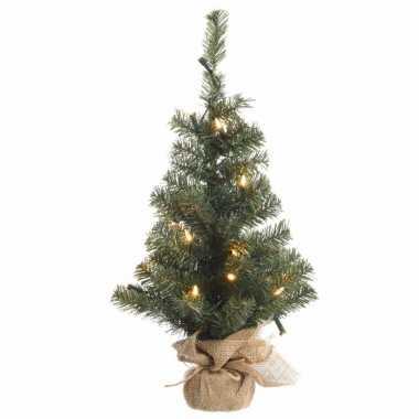 Kerst kunstboom groen met warm wit licht 60 cm prijs