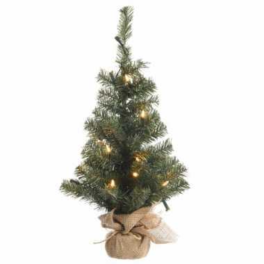 Kerst kunstboom groen met warm wit licht 90 cm prijs