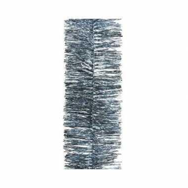 Kerst lametta guirlande grijsblauw 7 x 270 cm kerstboom versiering/de