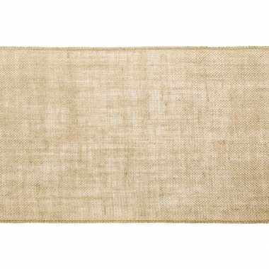 Kerst versiering jute tafelloper/placemats 28 x 500 cm prijs