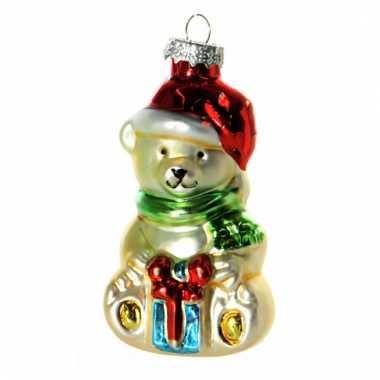 Kerstbal kerstbeertje 8 cm prijs