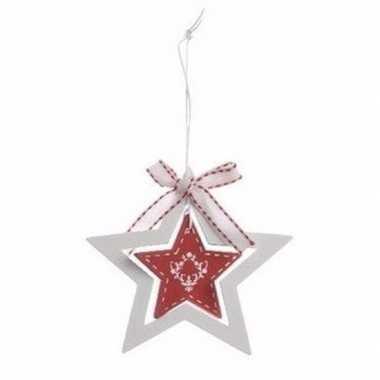 Kerstboom decoratie hanger rode ster prijs