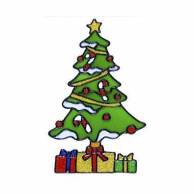 Kerstboom raam versiering 18 cm prijs