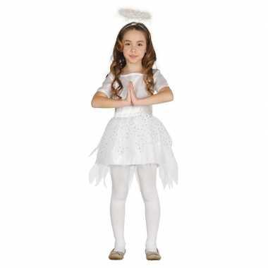 Kerstengelen kostuum raziel met aureool/halo voor meisjes prijs