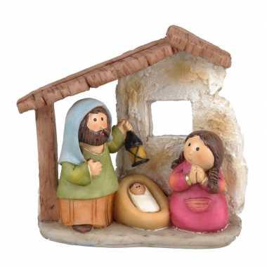 Kerstkribbe voor kinderen met 3 figuren prijs