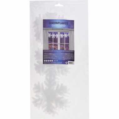 Kerstslinger sneeuwvlokken 385 cm prijs
