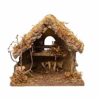 Kerststalletje zonder figuren 30 cm prijs