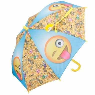 Kinder paraplu van smileys prijs