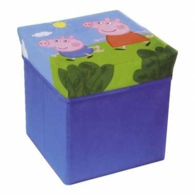 Kinderkamer opbergbox/opbergdoos peppa pig thema poef/zitje prijs