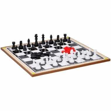 Kinderspeelgoed schaakbord en dambord 38 x 38 cm prijs