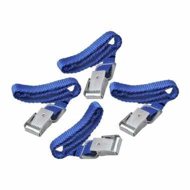 Kleine spanbanden met metalen gesp 4 stuks prijs