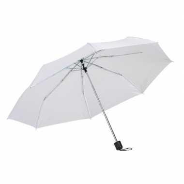 Kleine uitvouwbare paraplu wit 96 cm prijs
