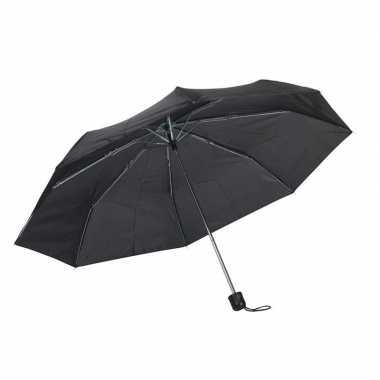Kleine uitvouwbare paraplu zwart 96 cm prijs