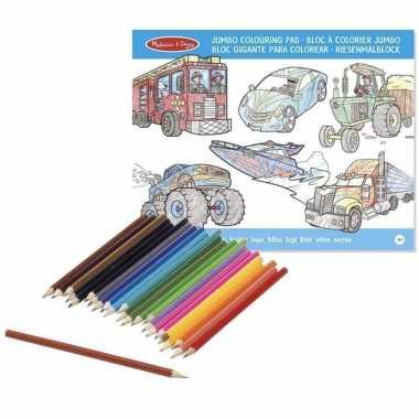 Kleurboek set met kleurpotloden superdik prijs