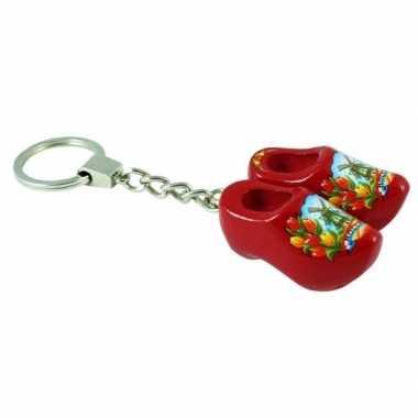 Klompjes aan sleutelhanger rood prijs
