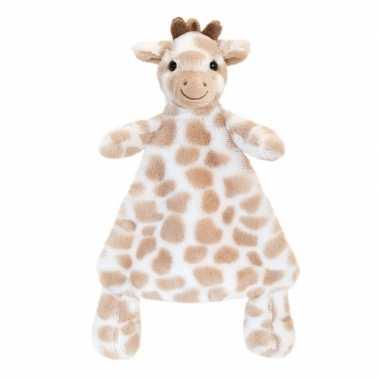 Knuffeldoekje giraffe bruin gevlekt tuttel 25 cm prijs