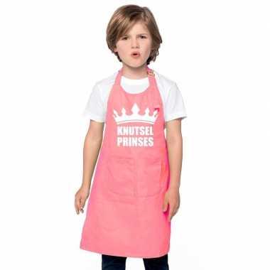 Knutselschort knutselprinses roze meisjes prijs