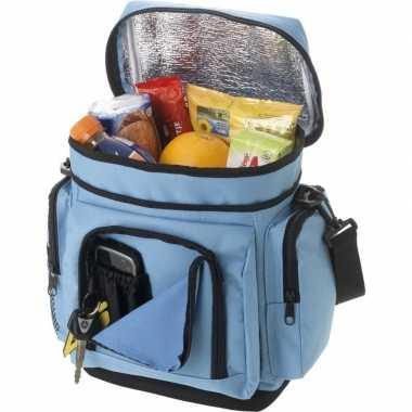 Koelbox/koeltas lichtblauw voor blikjes/lunch prijs