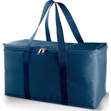 Koelbox/koeltas metallic/blauw 17 liter prijs