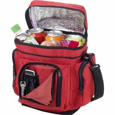 Koelbox/koeltas rood voor blikjes/lunch prijs