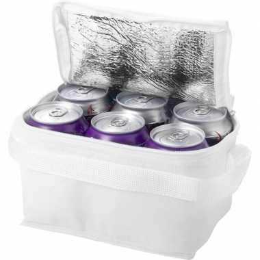 Koelbox/koeltas wit voor 6/sixpack blikjes prijs