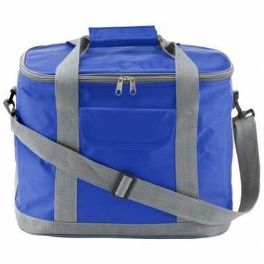 Koelbox/koeltas xl blauw/grijs 26 liter prijs