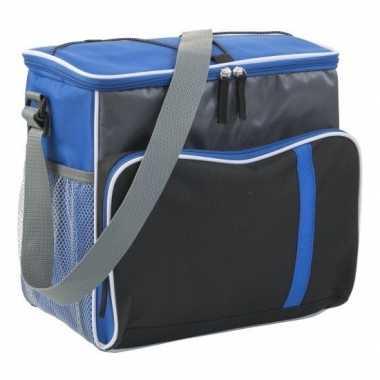 Koelbox/koeltas xl blauw/zwart 27 liter prijs