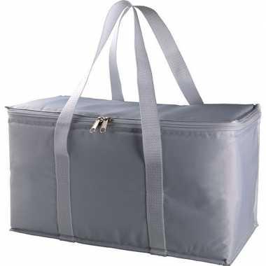 Koelbox/koeltas zilver/grijs 17 liter prijs