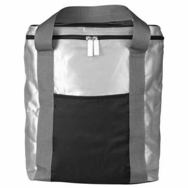 Koelbox/koeltas zilver/zwart 15 liter prijs