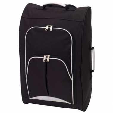 Koffer op wieltjes zwart 55 cm prijs