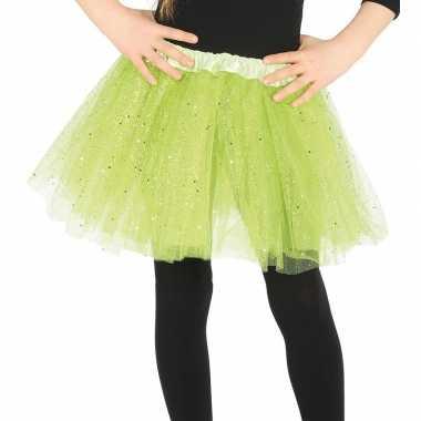 Korte tule onderrok lime groen 31 cm voor meisjes prijs