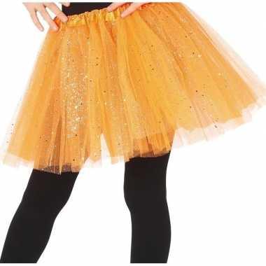 Korte tule onderrok oranje 31 cm voor meisjes prijs
