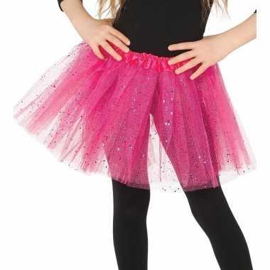 Korte tule onderrok roze 31 cm voor meisjes prijs