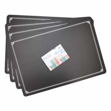 Krijtbord placemat 4 stuks met krijtjes prijs
