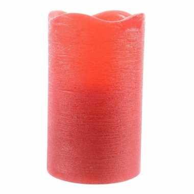 Led sfeerlicht waskaars rood 10 cm prijs