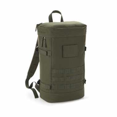 Leger groene rugtas voor wandelaars/backpackers 21 liter prijs