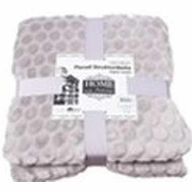 Licht grijze nepbont/pluche grote deken/plaid 150 x 200 cm prijs